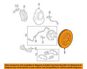 GM OEM Front Brake-Disc Rotor 22950036