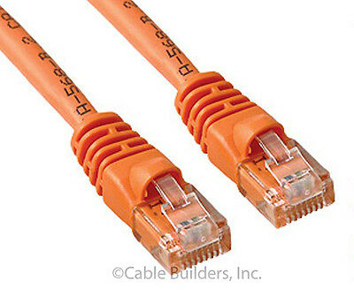 CAT6 ETHERNET PATCH CABLE 25FT ORANGE CATEGORY 6 ROUTER CORD 25/' SNAGLESS RJ45