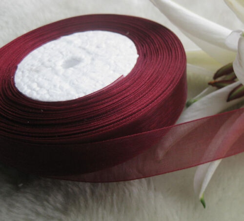 Lots Upick 50Yard//roll Mix Color//Size Organza Ribbon DIY Craft Wedding S001-S165