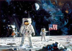 PUZZLE-1000-PIEZAS-EDUCA-18459-EL-PRIMER-HOMBRE-EN-LA-LUNA-First-Man-on-the-Moon