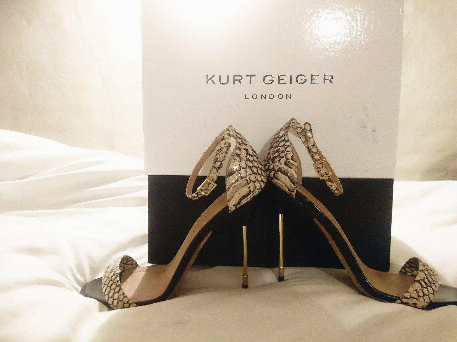 Designer Kurt Geiger London Belgravia Super Slim Heel. UK 7. w  box & bag