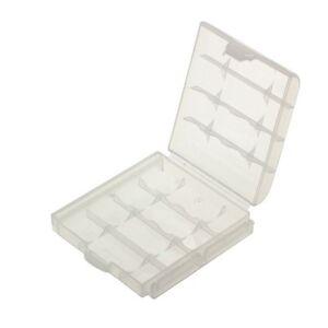 4x Akkubox für 4 Stück AA oder AAA Akkus transparent