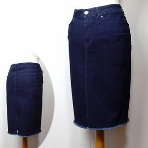 m s knee length denim pencil skirt asst sizes