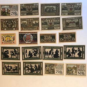 20-x-Notgeld-Mecklenburg-sehr-viele-kassenfrisch