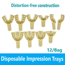 Dental Impression Trays Solid Perforated Plastic Disposable Choose Size 12bag
