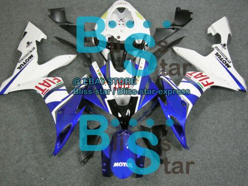 Blue White INJECTION Fairing Bodywork Kit Yamaha YZFR1 YZF-R1 2004-2006 15 B6