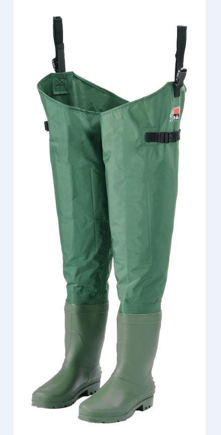 DAM Nylon Taslan Watstiefel green Gr.40   41 Teich Stiefel