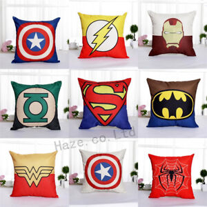 Decorative-Throw-Pillow-Case-America-Marvel-Superhero-Comic-Cushion-Cover-CCC