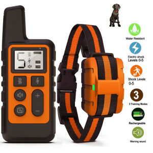 Dog-Training-Collar-Rechargeable-Waterproof-Remote-Electric-Pet-Shock-Vibration