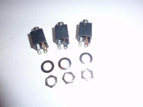 "3 Solder Lugs Panel Mount Switchcraft 112A Hi-D Jax 1//4/"" Mono Phone Jacks"