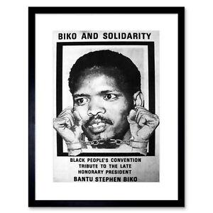 Political Steve Biko Anc Apartheid South Africa Framed Wall Art Print