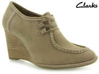 Clarks Gayle Trinny Womens Shoes Mushroom Leather Size Uk 7 -euro 41 Rrp 55