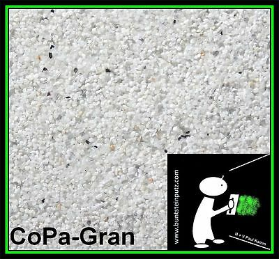 Buntsteinputz/Mosaikputz - Farbmuster - Weiß + Spiegelbruch SOP11