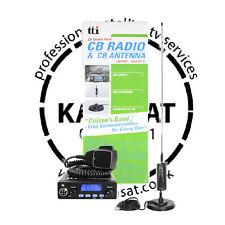 CB Radio Mobile Starter Kit TTI TCB550 with MiniSpringer Antenna and Mount 0.89m
