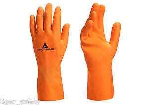Strict X2 Paires Delta Plus Venitex Ve450 Orange Poids Lourd Marigolds Gants En Caoutchouc-afficher Le Titre D'origine Couleurs Harmonieuses
