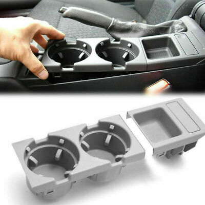 Timagebreze Car Center Console Water Cup Holder Beverage Bottle Holder Coin Tray For 3 Series E46 318I 320I 98-06 51168217953 Beige