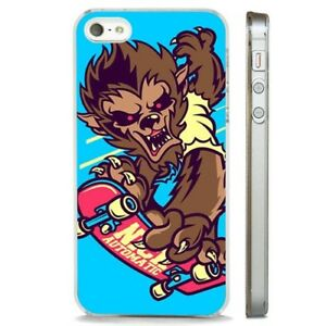 online store d557e 62985 Details about Skateboarding Werewolf Cool CLEAR PHONE CASE COVER fits  iPHONE 5 6 7 8 X