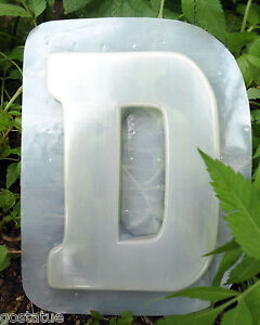 "Letter H  plastic mold SEE 26 letters 7.75/""H x 5.5/"" x 3//4/"" thick"