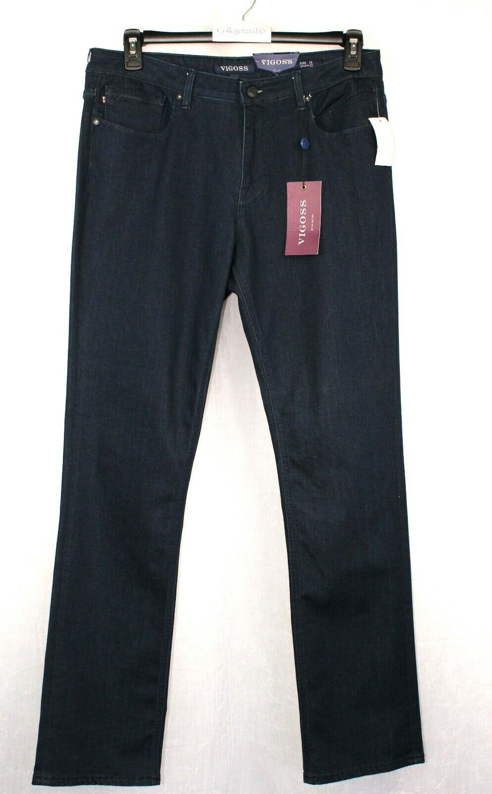 VIGOSS Jeans Size 12 The Chelsea Straight Rinse bluee Retail