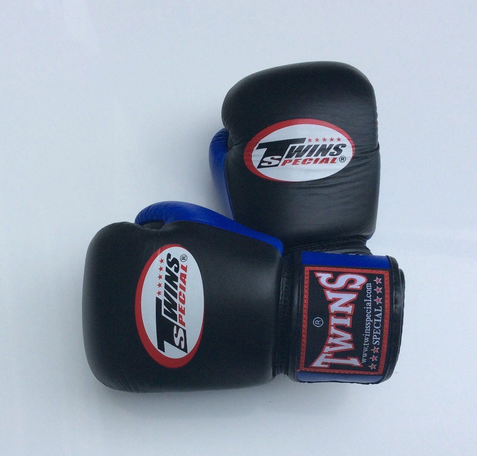 Twins Blk/Blau Special Bgvl-3T Blk/Blau Twins 12oz Muay Thai/ Boxing Gloves 4f4b23