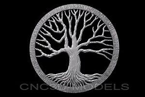 3D Model STL for CNC Router Engraver Carving Artcam Aspire Tree Wood Pano e965