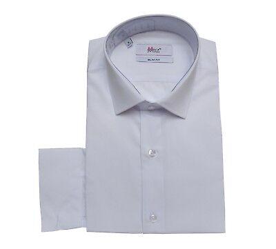 Slim-fit Uomo Camicia, Fazzoletto Con Tg 4xl Bianco 49/50-mostra Il Titolo Originale