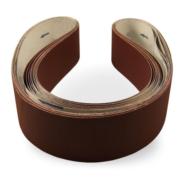 2 X 48 Inch 100 Grit Aluminum Oxide Metal Sanding Belts 6 Pack