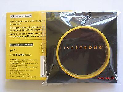Genuine Livestrong Braccialetto-lance Armstrong-giallo-dimensioni Giovani (xs-m)- Texture Chiara