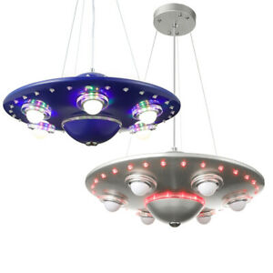 Spaceship Led Chandelier Ufo Pendant Lamp Children Bedroom Ceiling Light Fixture Ebay
