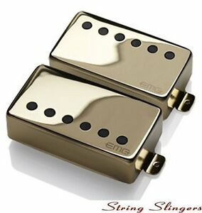 EMG-57-amp-EMG-66-pair-of-Active-Humbuckers-Gold-Solderless
