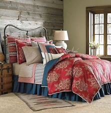 New Ralph Lauren Chaps Telluride Red Floral Queen Comforter Shams Bedskirt 4pc