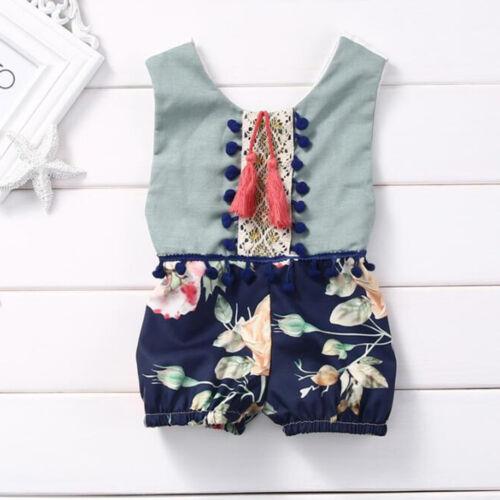 Kid Toddler Newborn Baby Boy Girls Romper Jumpsuit Bodysuit Clothes Outfit Set