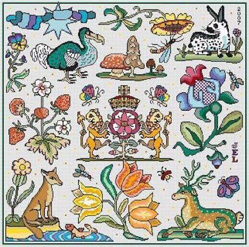 Beautie Spotte 10/% Off Long Dog Samplers Counted X-stitch chart