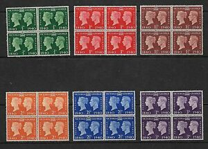 1940 GB GEORGE VI CENTENARY STAMPS BLOCKS OF 4 MNH O/G