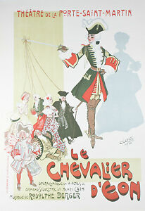 034-Le-Chevalier-d-039-Eon-034-By-Clerice-French-Poster-Lithograph-on-Paper-37-034-x26-034