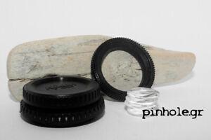 PinCap, Pinhole Body Cap for NIKON and CANON cameras by pinhole.gr