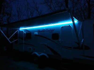 RV Awning Color Changeable LED Lights w/Remote Motor Home Camper