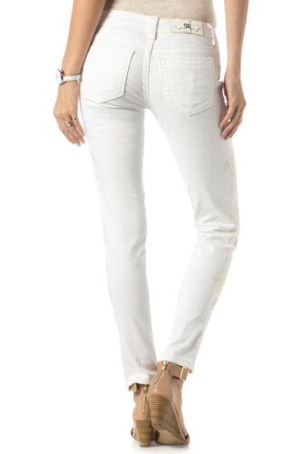 Women's Me Brodered Skinny Jp7673s White Dream Rise Miss Low Jeans Daze UR5qxwUAd