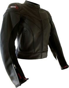 Weise-Tornado-Ladies-Black-Leather-Sport-Motorcycle-Jacket-RRP-229-99