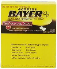 Bayer Aspirin Pain Reliever/Fever Reducer 50 Packets 2 Tablets 100 Total Tablets
