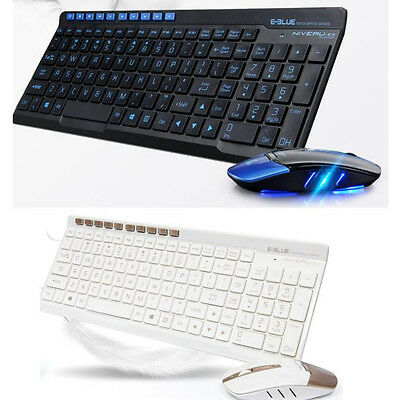 NEW Wireless 2.4GHz Gaming Keyboard + Mouse Combo Set For PC Laptop Computer