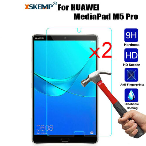 M5 10.8//8.4 2X Tempered Glass Screen Protector For HUAWEI MediaPad T2 10.0 Pro