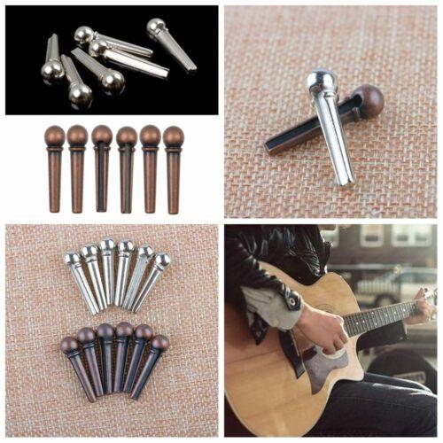 "hohe qualität professionelle brücke pins metall akustik gitarre string /"""