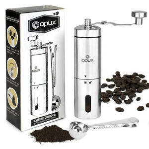 Manual-Coffee-Grinder-Stainless-Steel-Conical-Burr-Portable-Hand-Crank-Bean-Mill