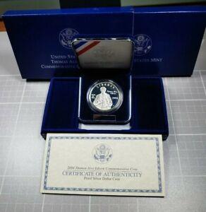 2004-Thomas-Edison-US-Proof-Commemorative-Silver-1-Dollar-with-Box-and-COA