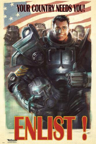 24x36 FALLOUT 4 Enlist Recruitment Poster 24x36