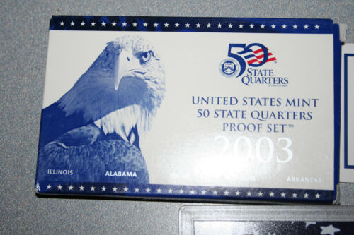 2003 United States Mint 50 Quarters Proof Set 5 Coins Coa Gift Free Shipping 555