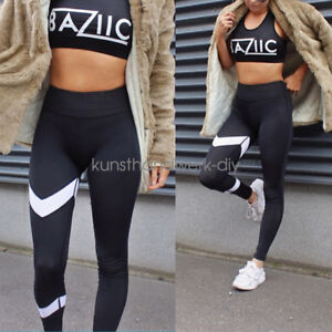 Women-High-Waist-Sports-Pants-Gym-Yoga-Fitness-Leggings-Run-Stretch-Trousers-CA