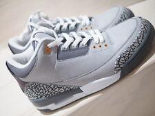 NDS 2007 NIKE AIR JORDAN iii 3 RETRO LS black white cement cool grey UK 10 US 11