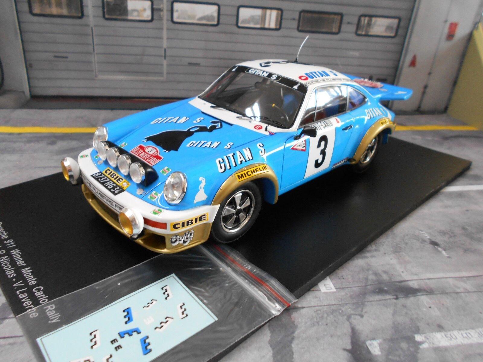 PORSCHE 911 Carrera RS 3.0 Rally Monte Carlo 1978 #3 Nicolas WINNER SPARK 1:18